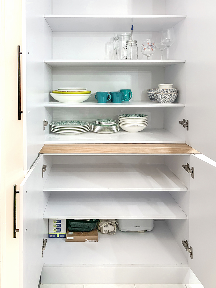 Built-in with lots of storage in dining room