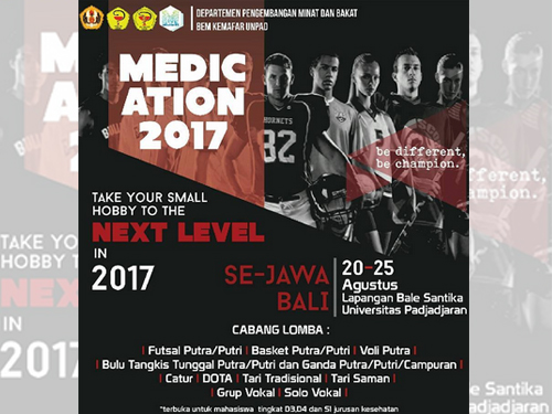 Event Medication 2017 Fakultas Farmasi Unpad