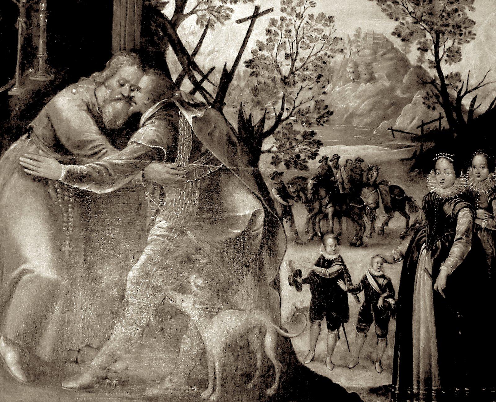 Граф Отто посещает святого Герольда.