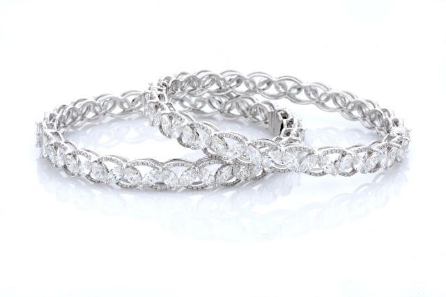 Entice Irresistible_ marquise & round diamond zig zag  classic bangles-