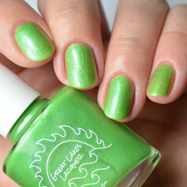lime green nail polish