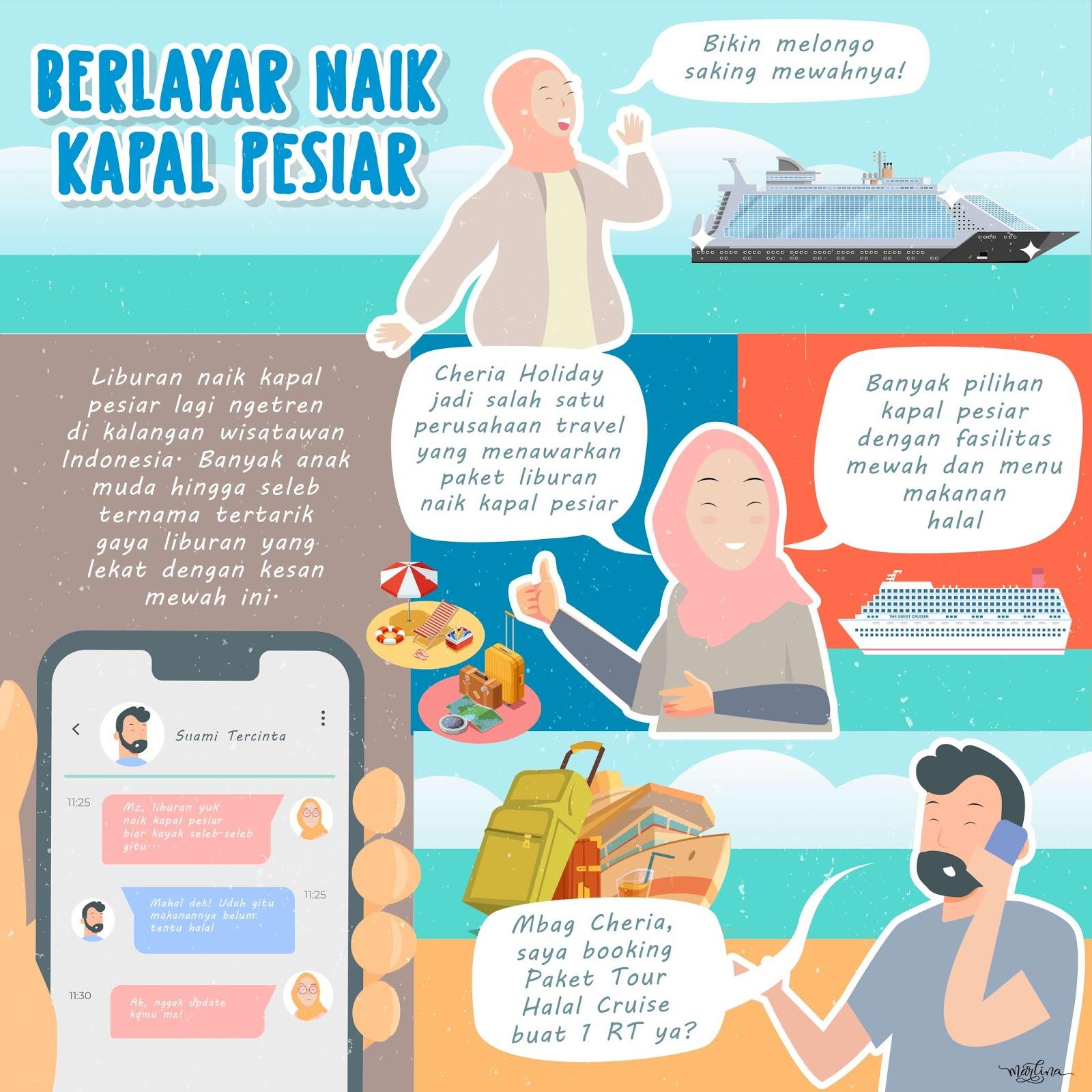 Infografis Paket Tour Halal Cruise Cheria Holiday
