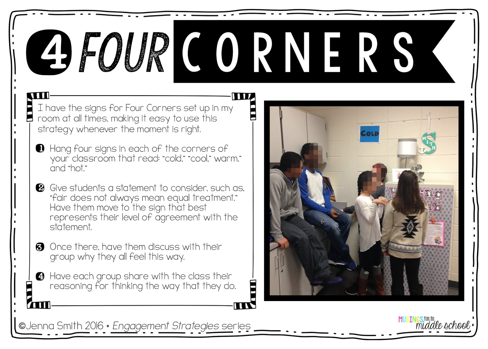 four corners agree disagree questions