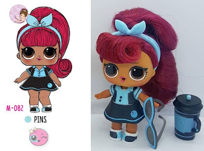 Pins L.O.L. doll from Hair Goals wave 2 series