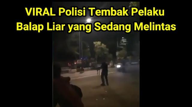 Viral Balap Liar Ditembak, Polisi: Pakai Peluru Hampa