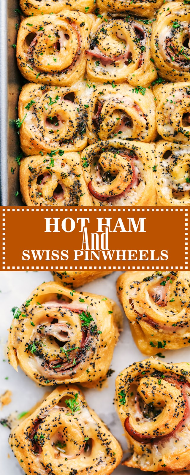 HOT HAM AND SWISS PINWHEELS