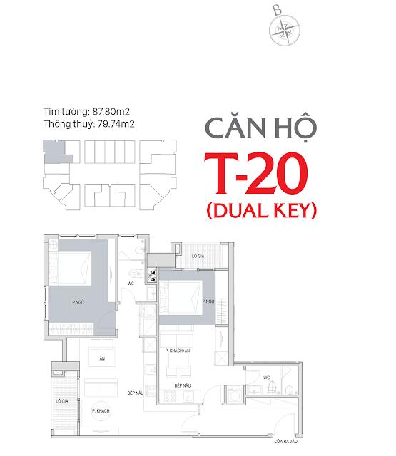 Thiết kế chi tiết căn hộ E1-20 dự án D'el Dorado phú thượng