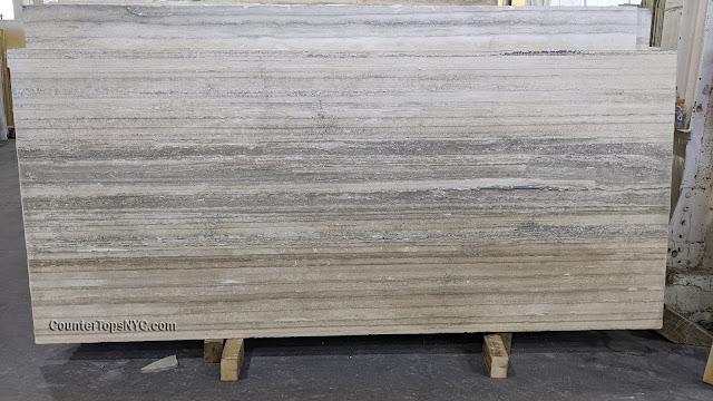 Gray Travertine slab