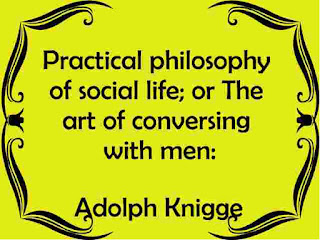 The art of conversing with men by Adolph Knigge