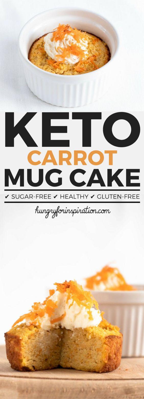 Carrot Keto Mug Cake With Cream Cheese Frosting (Keto Dessert)