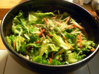 サラダ冷麺完成
