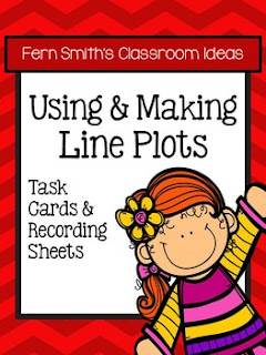 Fern Smith's Classroom Ideas Using and Making Line Plots Task Cards, Recording Sheets and Answer Keys With No Common Coreat TeacherspayTeachers.
