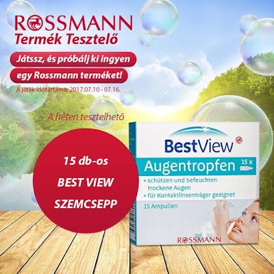 Rossmann Termék Tesztelő