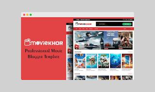 Moviekhor Blogger template Download | (Premium)
