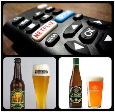 Cervezas artesanales (Rondeña y La Sagra de Castilla) y Netflix...¡buen verano!