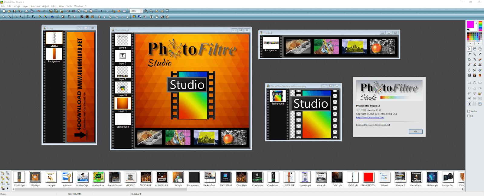 PHOTOFILTRE 10.5.0 TÉLÉCHARGER STUDIO X