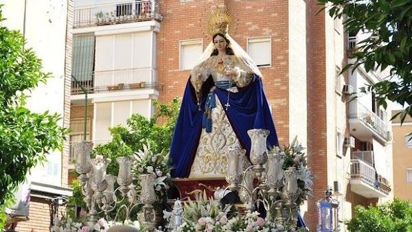 Horario e Itinerario Procesión de la Inmaculada Concepción. Sevilla 08 de Diciembre del 2019