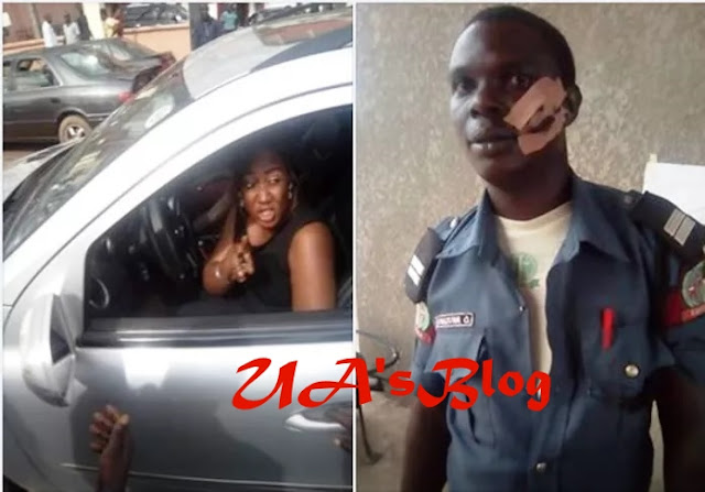 Kung Fu Queen: Edo House Of Assembly Member Rolland Asoro's Wife Beats Traffic Officer For Stopping Her Vehicle