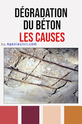 Dégradation béton armé - causes