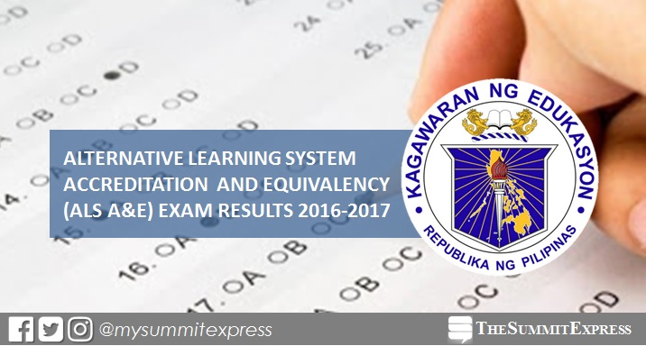 LIST OF PASSERS: DepEd releases 2016-2017 ALS A&E Exam Results