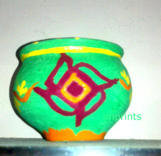 Earthen pot mishti doi