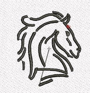 rostro de caballo delineado