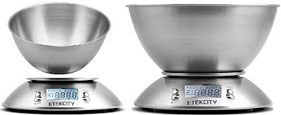 Etekcity Kitchen Scale with 2.15L Detachable Weighing Bowl and Built-in Temperature Sensor