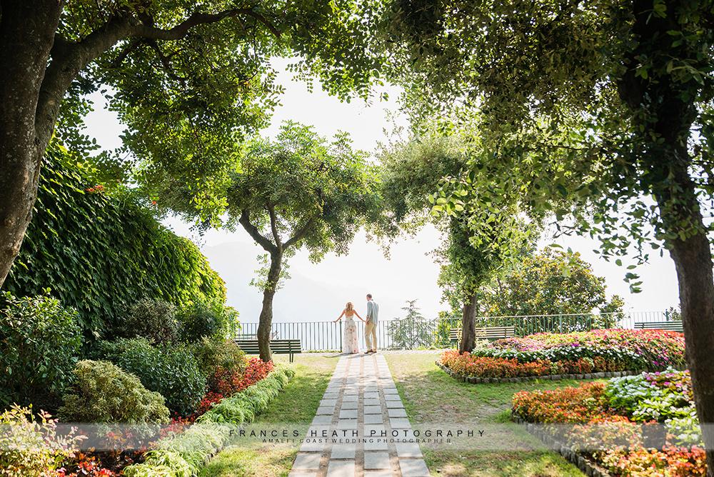 Ravello garden engagement
