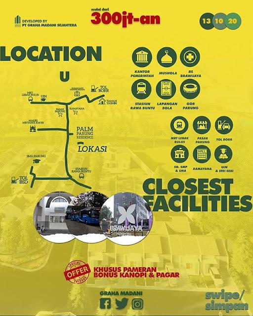 lokasi palm parung residence