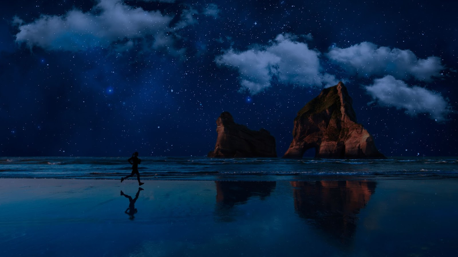 Download Night Running, sfondo per Windows 10