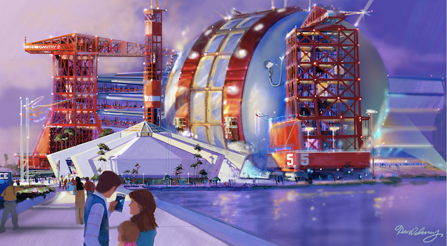 Epcot Disney World Never Built Space Attraction