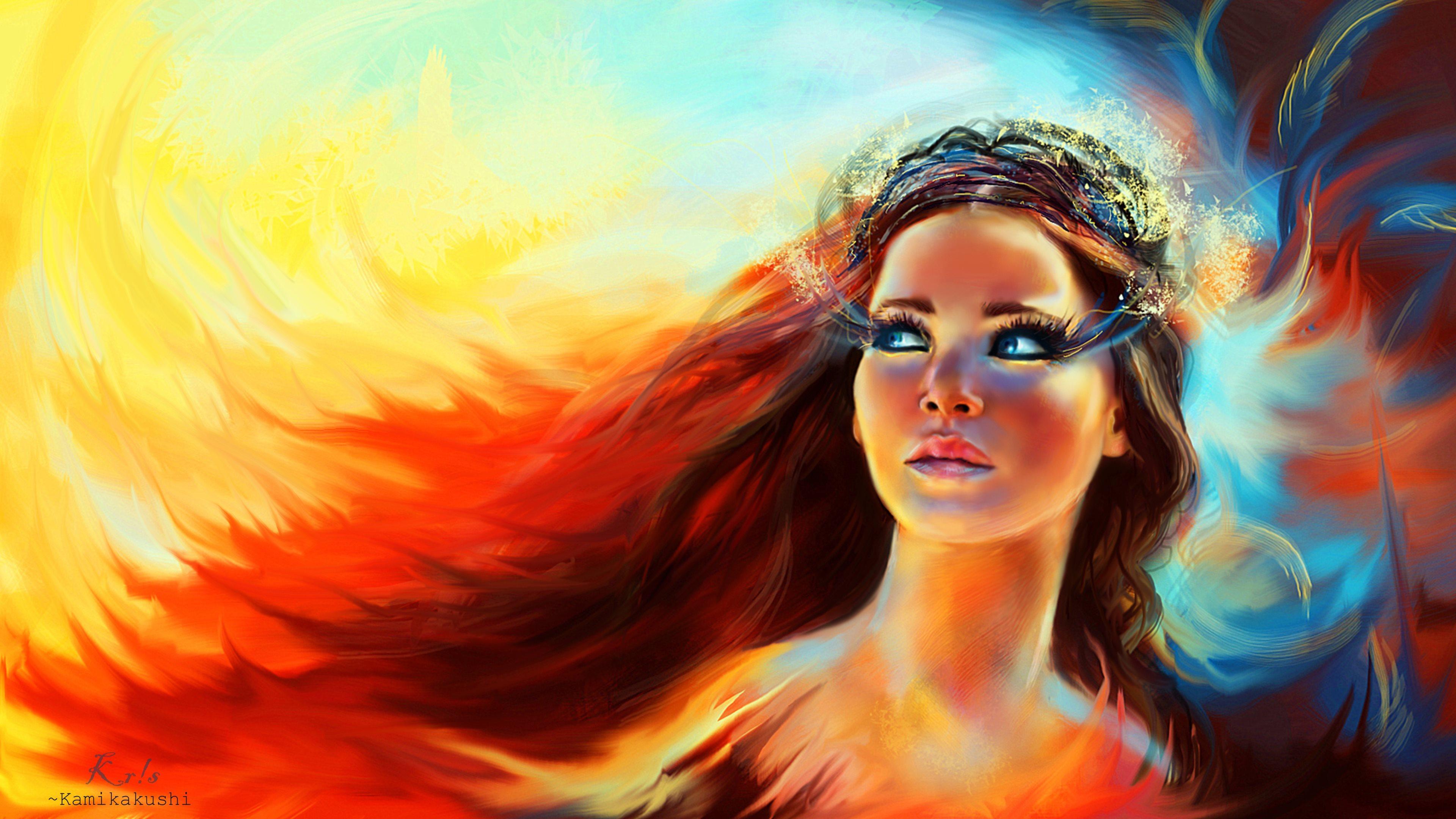 Fan Art  Katniss Everdeen from Catching fire   Digital Art - PaintingKatniss Everdeen Fan Art