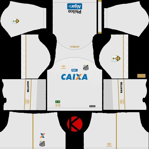 8f502936b Santos FC 2018/19 Kit - Dream League Soccer Kits - Kuchalana