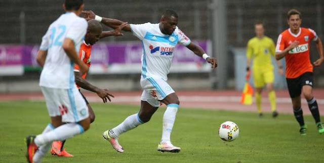Henri Bedimo sous le maillot de l'Olympique de Marseille