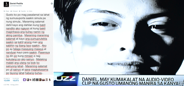 Daniel Padilla's Alleged Audio Recording Talking about Sam Conception and Jasmine Curtis-Smith