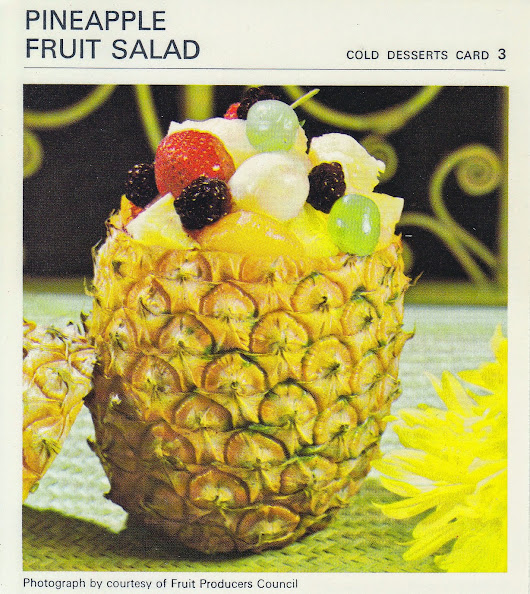 Pineapple Fruit Salad - 1960's (Marguerite Patten Recipe Card)