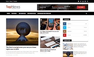 Top News Blogger Template