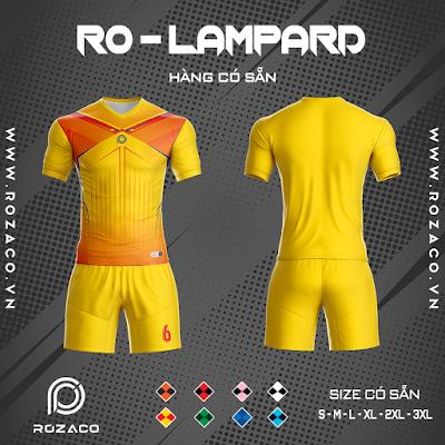Áo Không Logo Rozaco RO-LAMPARD Màu Vàng