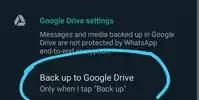 WhatsApp Backup To Google Drive