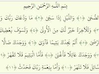 Surat Ad-Dhuha ( 093 ), Terjemah, Tafsir Jalalayn