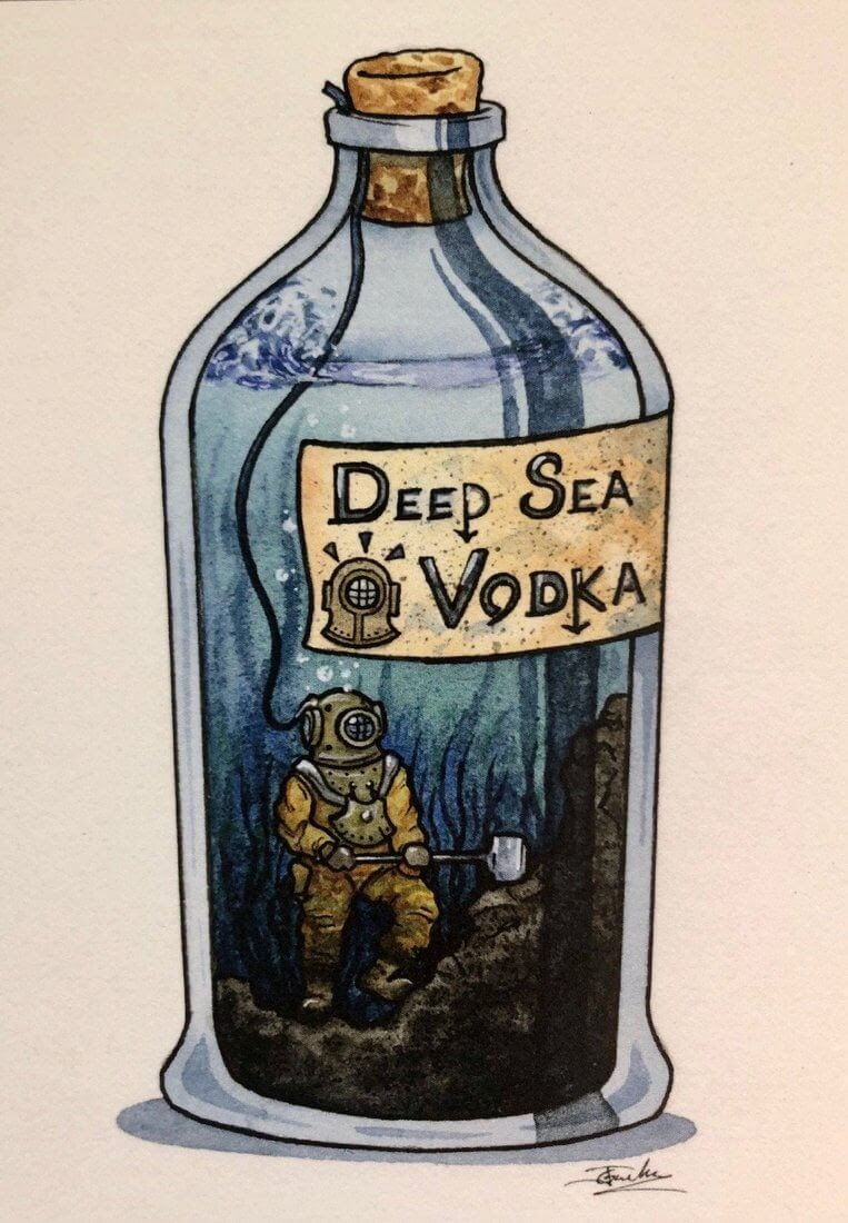 05-Deep-Sea-Diver-Vodka-Jon-Guerdrum-Ship-in-a-Bottle-Drawings-and-Paintings-www-designstack-co