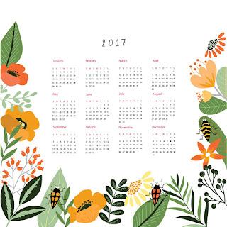 2017カレンダー無料テンプレート174
