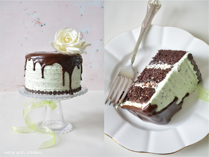 Mint Chocolate Chip Cake, Drip Cake, Cake with Flowers, Chocolate Ganache, Cake Decorating Ideas