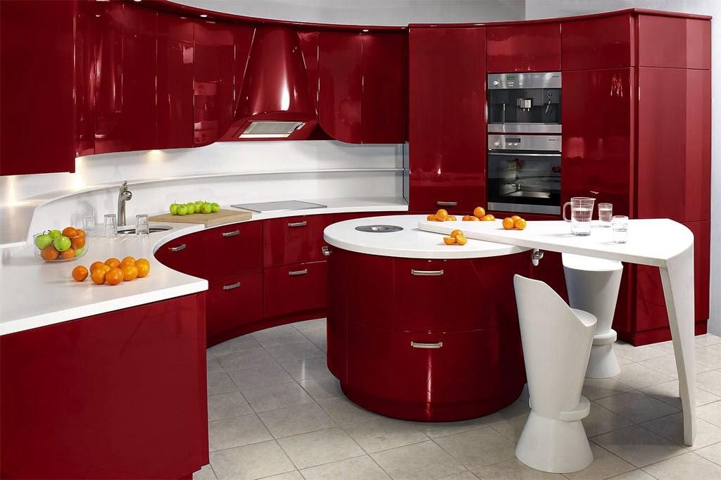 Diseno De Cocinas En Colores Rojo Y Negro Cocina Y Muebles - Diseos-de-cocina