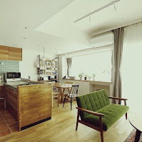 Furniture idea for dining and living area in small apartment
