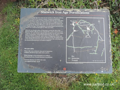 Stanwick Camp North Yorkshire Information Board