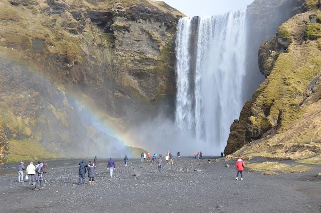 skogafoss, rainbow