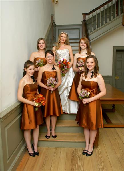 Bridesmaid Dresses Chic Orange