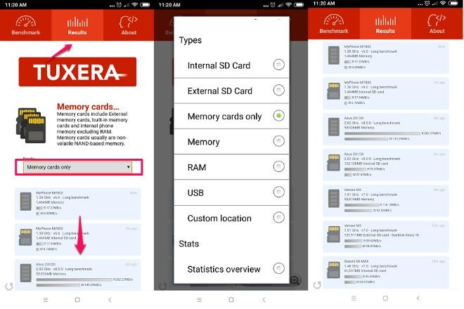 Cách kiểm tra tốc độ thẻ nhớ MicroSD trên Android