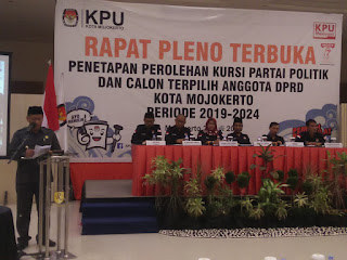 KPU Kota Mojokerto Tetapkan 25 Caleg Terpilih, Berikut Nama dan Perolehan Suaranya